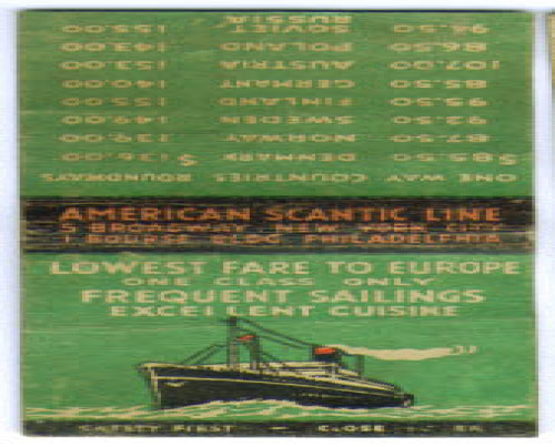 Image for American Scantic Line ocean liner matchcover 1930s