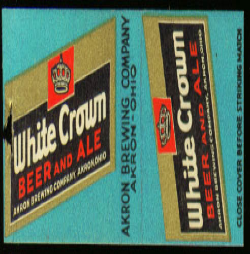 Image for White Crown Beer Akron OH matchcover 30s