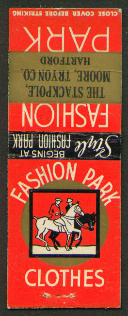 Fashion Park Clothes Stackpole Hartford CT matchcover