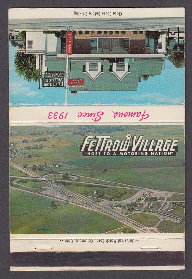 Fettrow Village London OH matchcover
