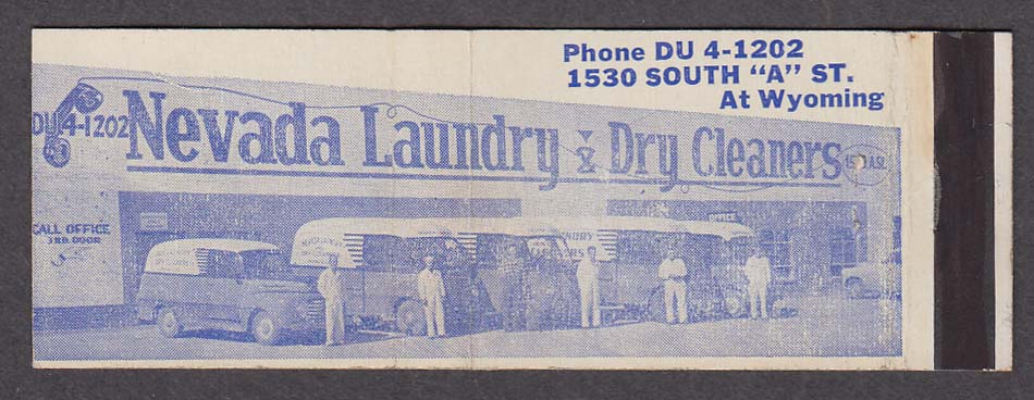 Nevada Laundry & Dry Cleaners 1530 South A St matchcover