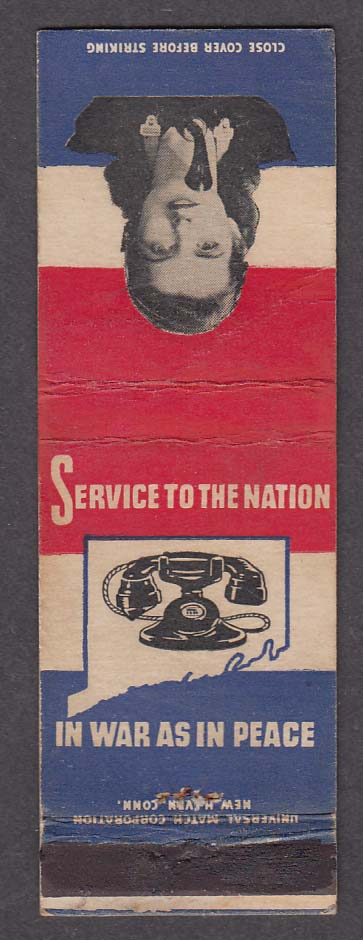 Southern New England Telephone Company Service to the Nation matchcover