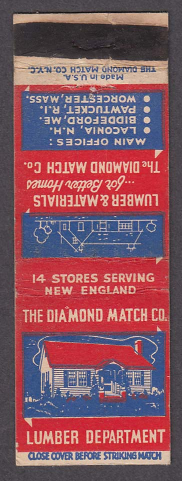 Diamond Match Co Lumber Department matchcover