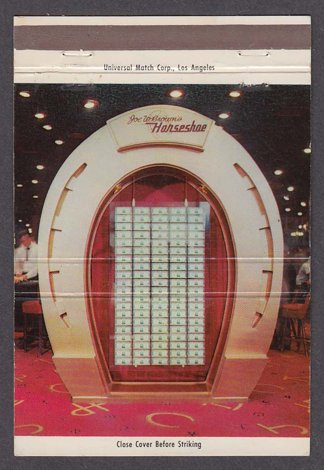 Joe W Brown's Horseshoe Club Nevada Room Restaurant Las Vegas NV matchcover
