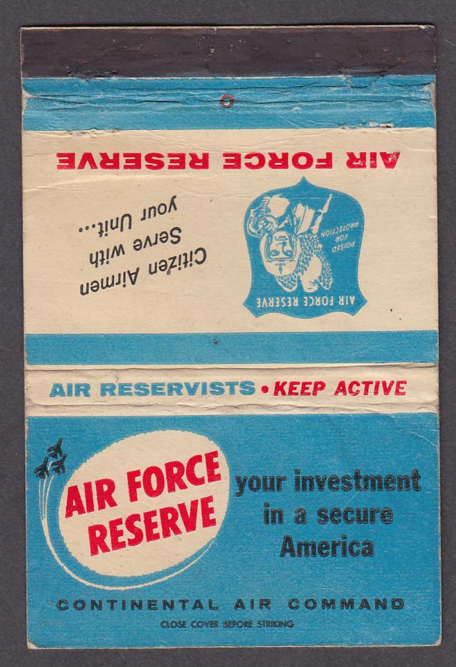 Air Force Reserve Continental Air Command matchcover