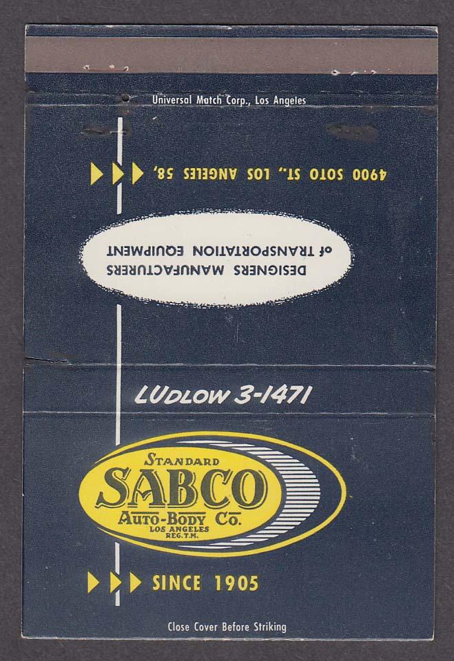 SABCO Standard Auto-Body Co 4900 Soto St Los Angeles CA matchcover