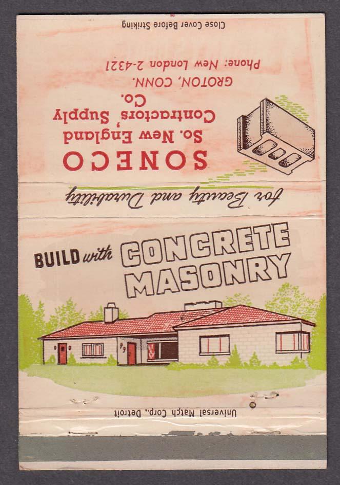 Concrete Masonry Soneco S New England Contractors Supply Co Groton CT matchcover