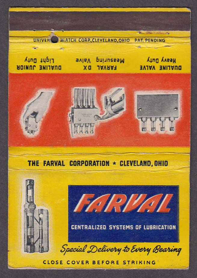 Farval Centralized Systems of Lubrication Cleveland OH matchcover
