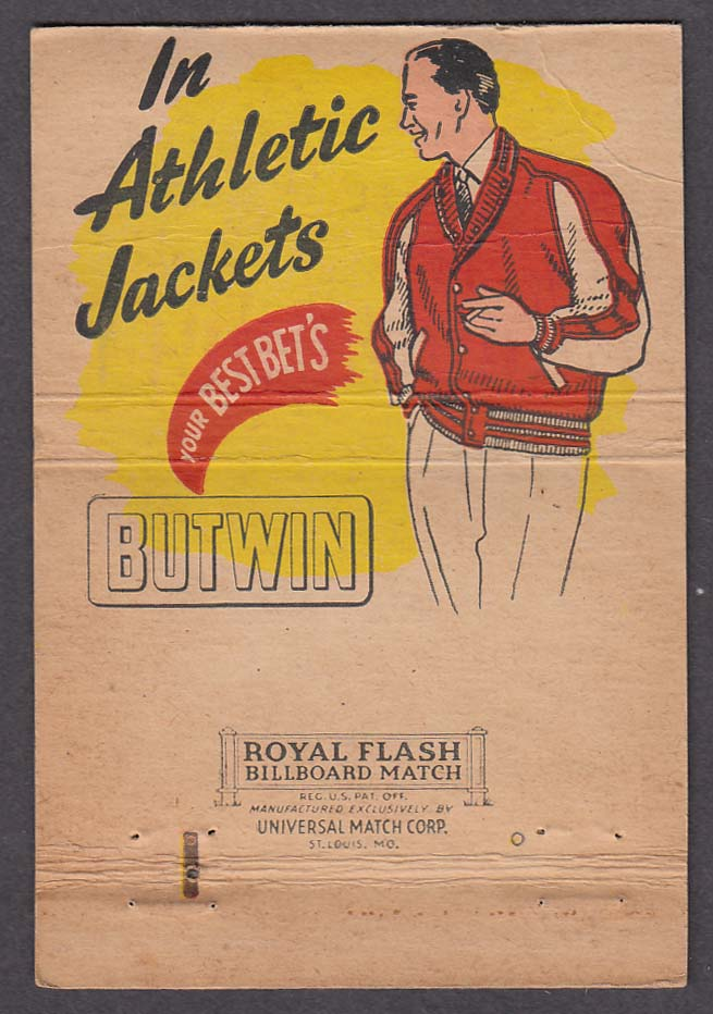 Jacket of Champions Butwin Sportswear Co St Paul MN matchcover