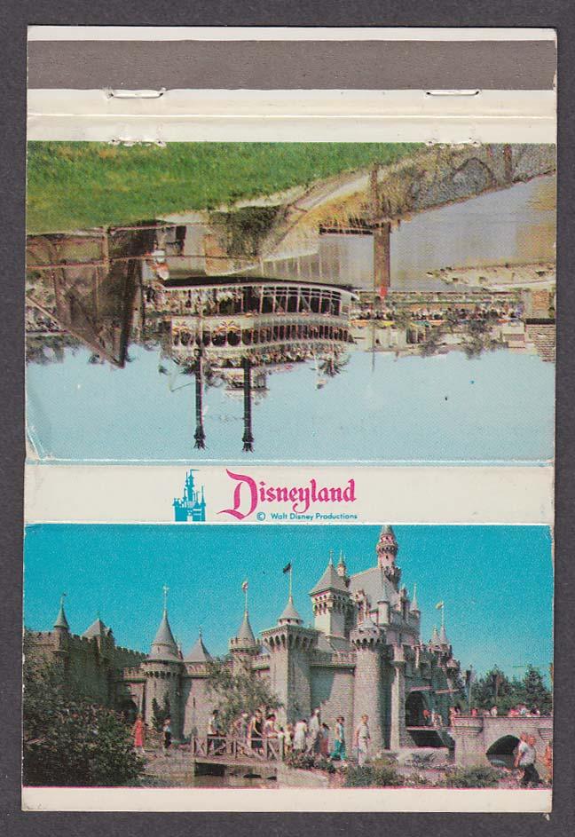 Sleeping Beauty Castle Fantasyland Mark Twain Frontierland Disneyland matchcover