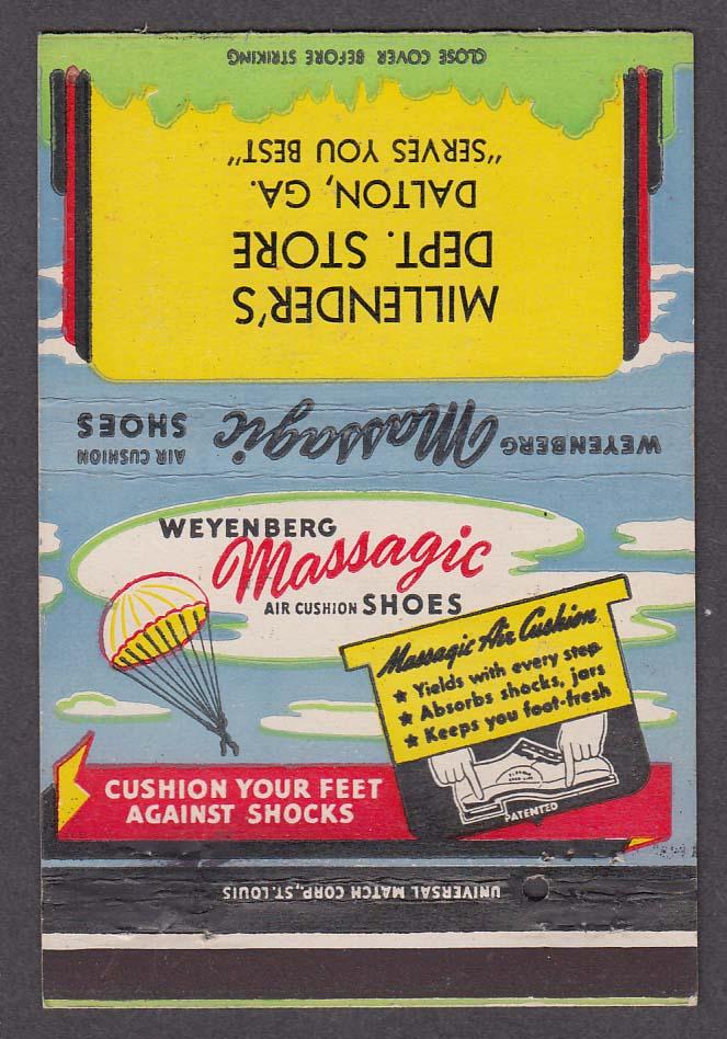 Millender's Dept Store Dalton GA Weyenberg Massagic Shoes matchcover