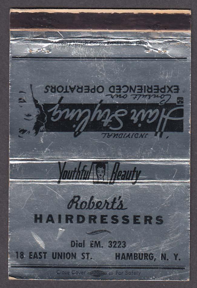 Robert's Hairdressers 18 East Union St Hamburg NY matchcover