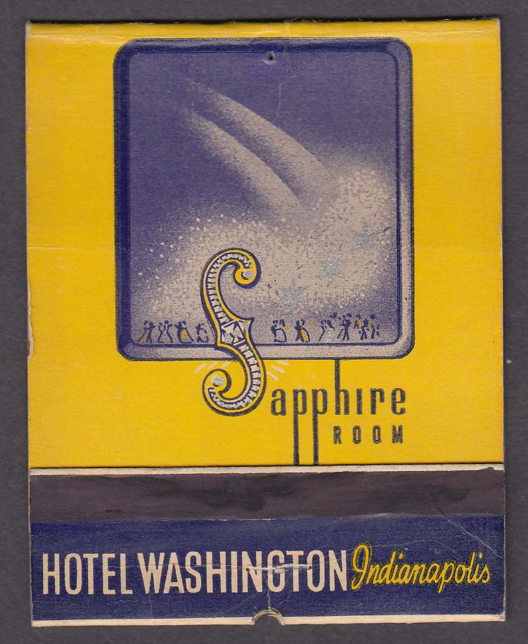 Sapphire Room Hotel Washington Indianapolis IN matchcover
