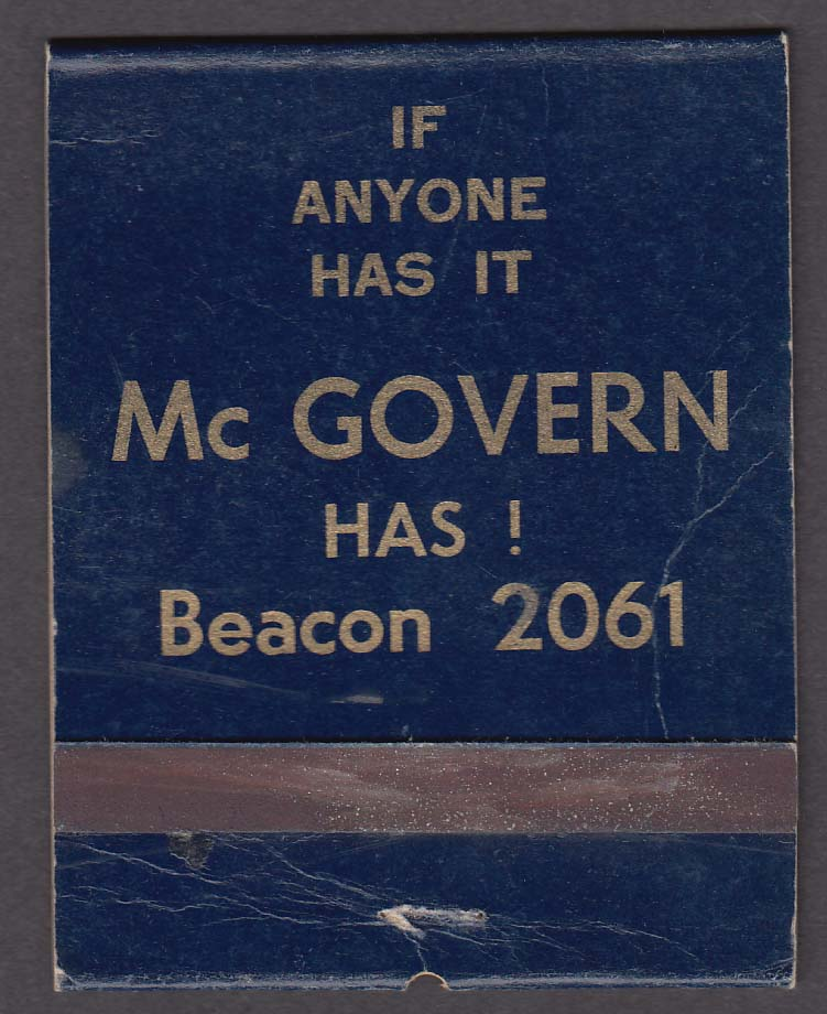 Mc Govern Beverage Connoisseur 211 Main St Beacon NY matchcover