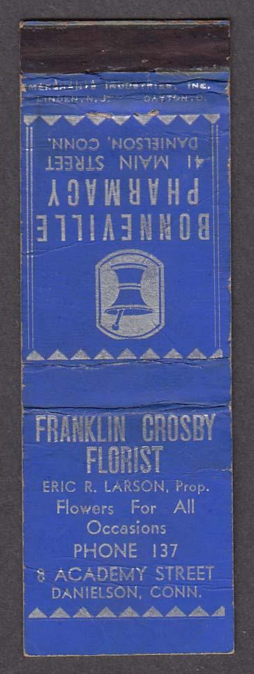 Bonneville Pharmacy Franklin Crosby Florist Danielson CT matchcover
