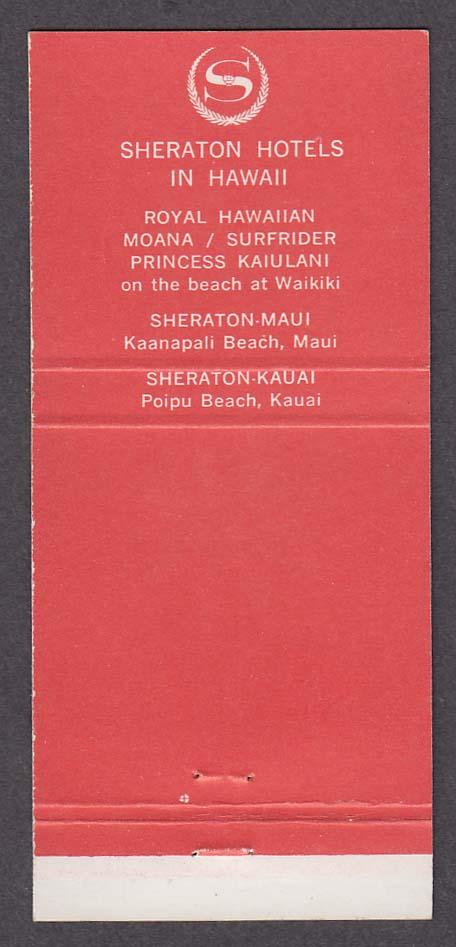 Sheraton-Kauai Hotel Poipu Beach HI matchcover