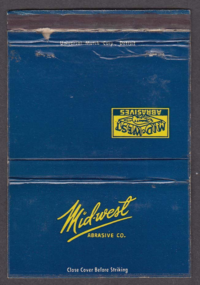 Mid-West Abrasive Co matchcover