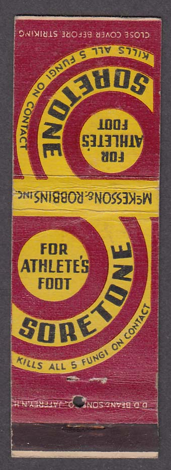 Soretone for Athlete's Foot matchcover