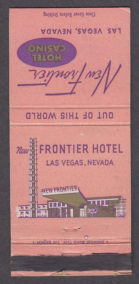 New Frontier Hotel Casino Las Vegas NV matchcover