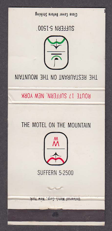 The Motel on the Mountain Suffern NY matchcover