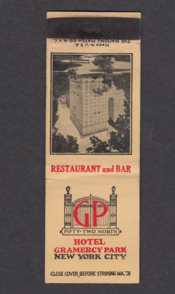Image for Hotel Granercy Park New York City NY matchcover
