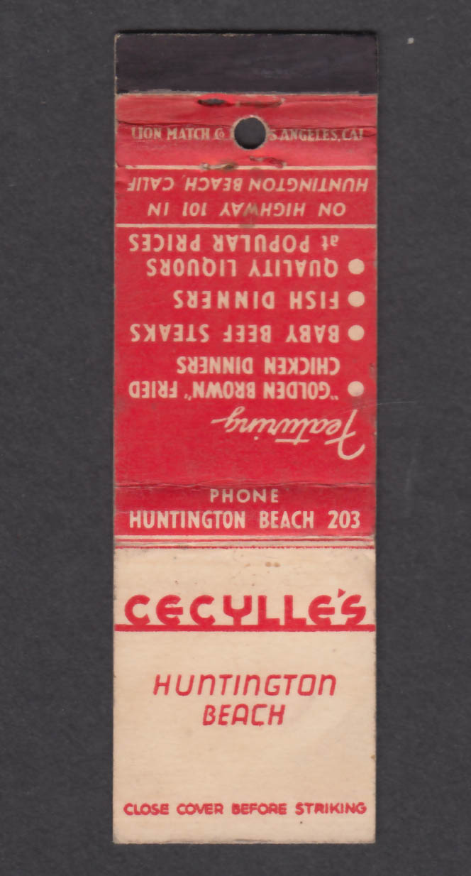 Image for Cecylle's Huntington Beach CA matchcover