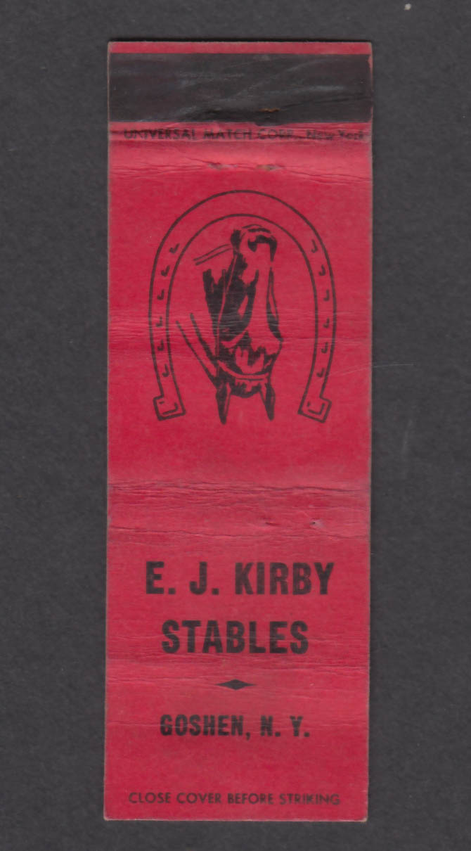 Image for E J Kirby Stables Goshen NY matchcover
