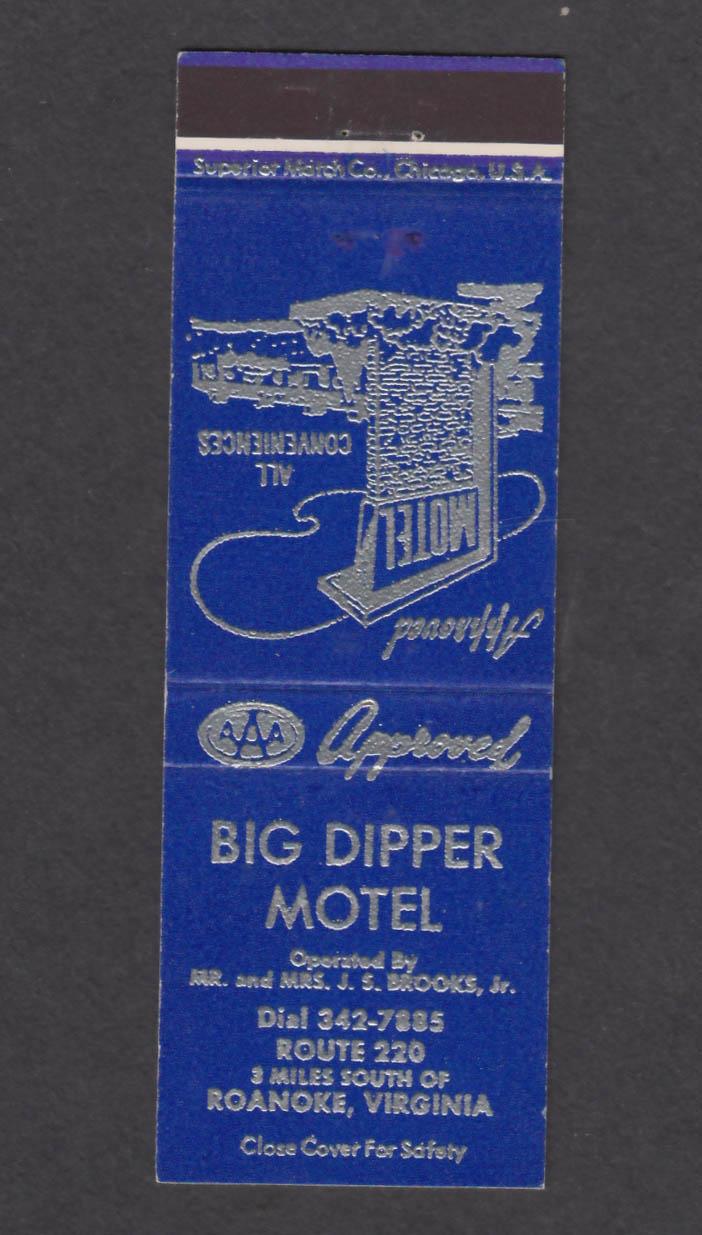 Image for Big Dipper Motel Route 220 Roanoke VA matchcover