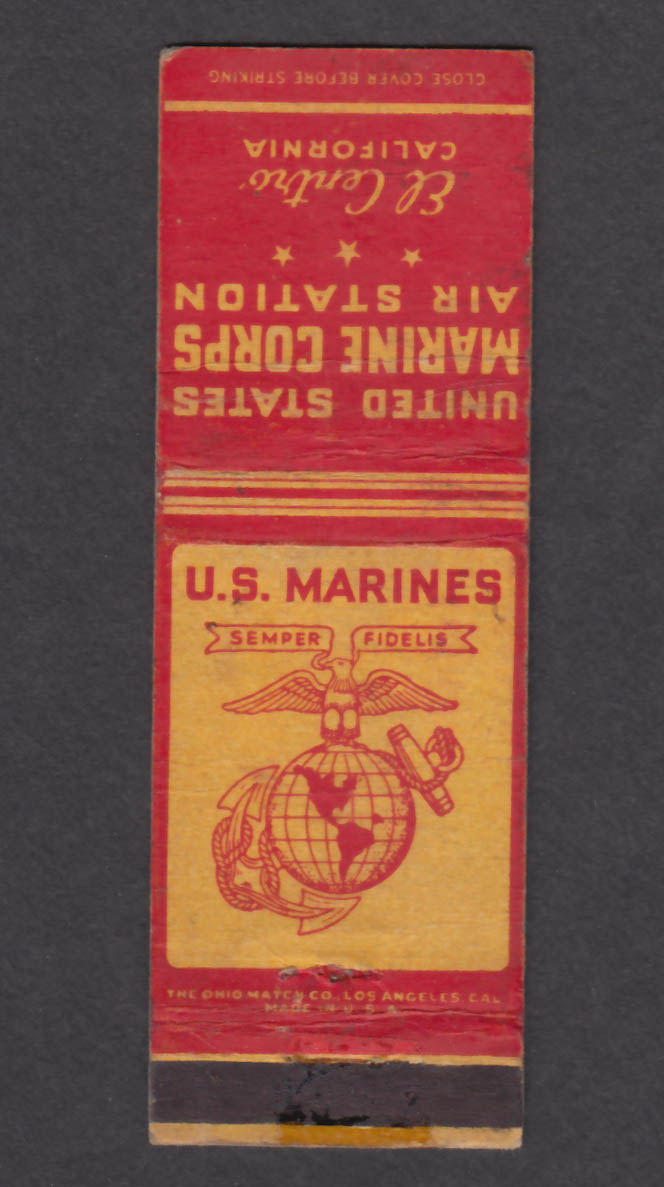 Image for United States Marine Corps Air Station El Centro CA matchcover