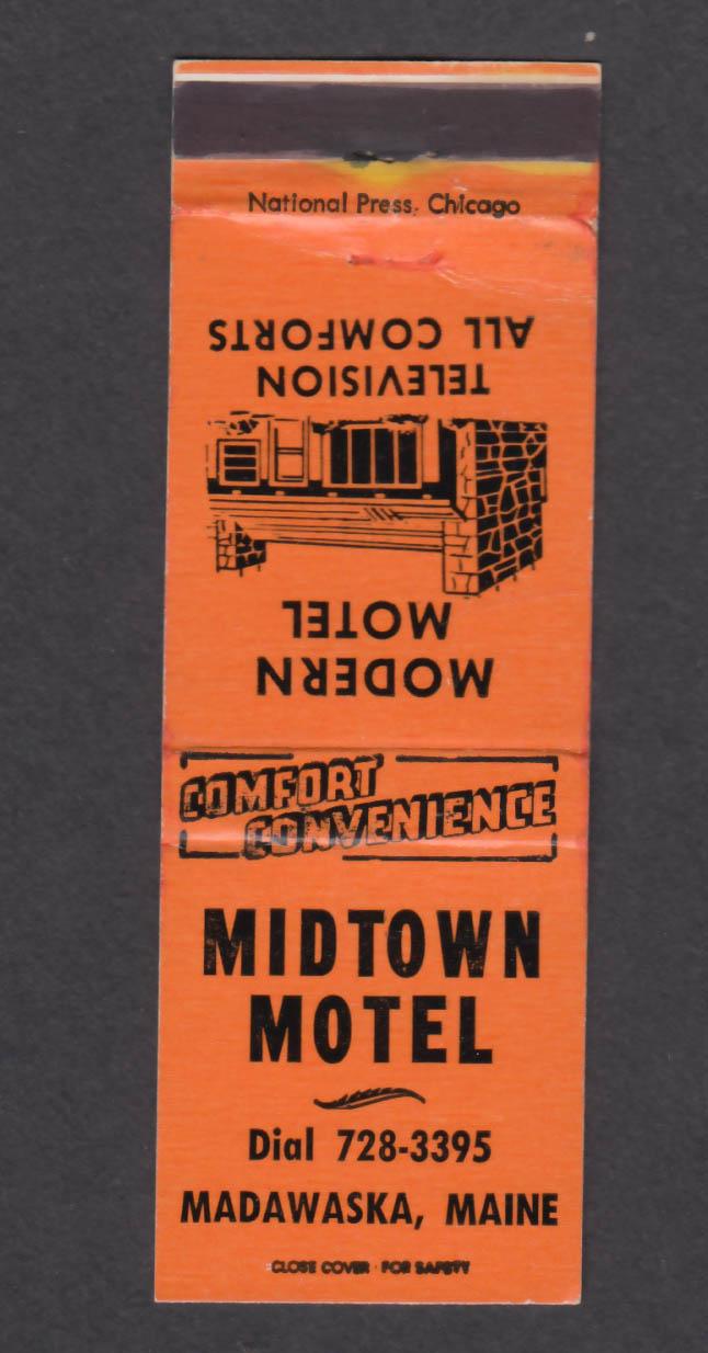 Image for Midtown Motel Madawaska ME matchcover