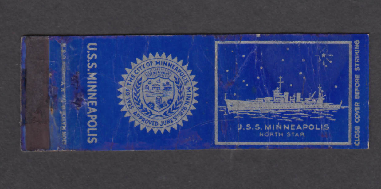 Image for USS Minneapolis North Star matchcover