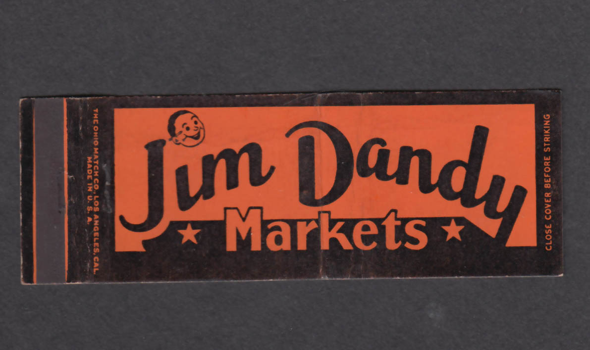Image for Jim Dandy Markets matchcover