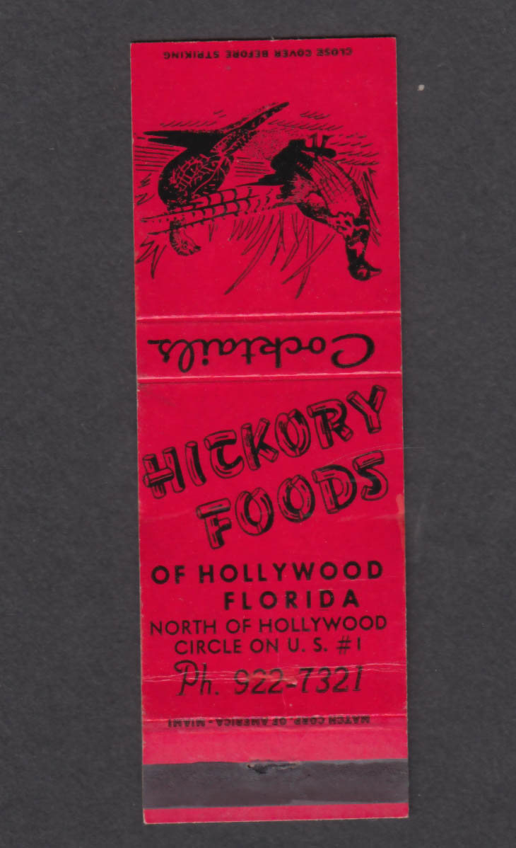 Image for Hickory Foods Hollywood Circle Hollywood FL matchcover