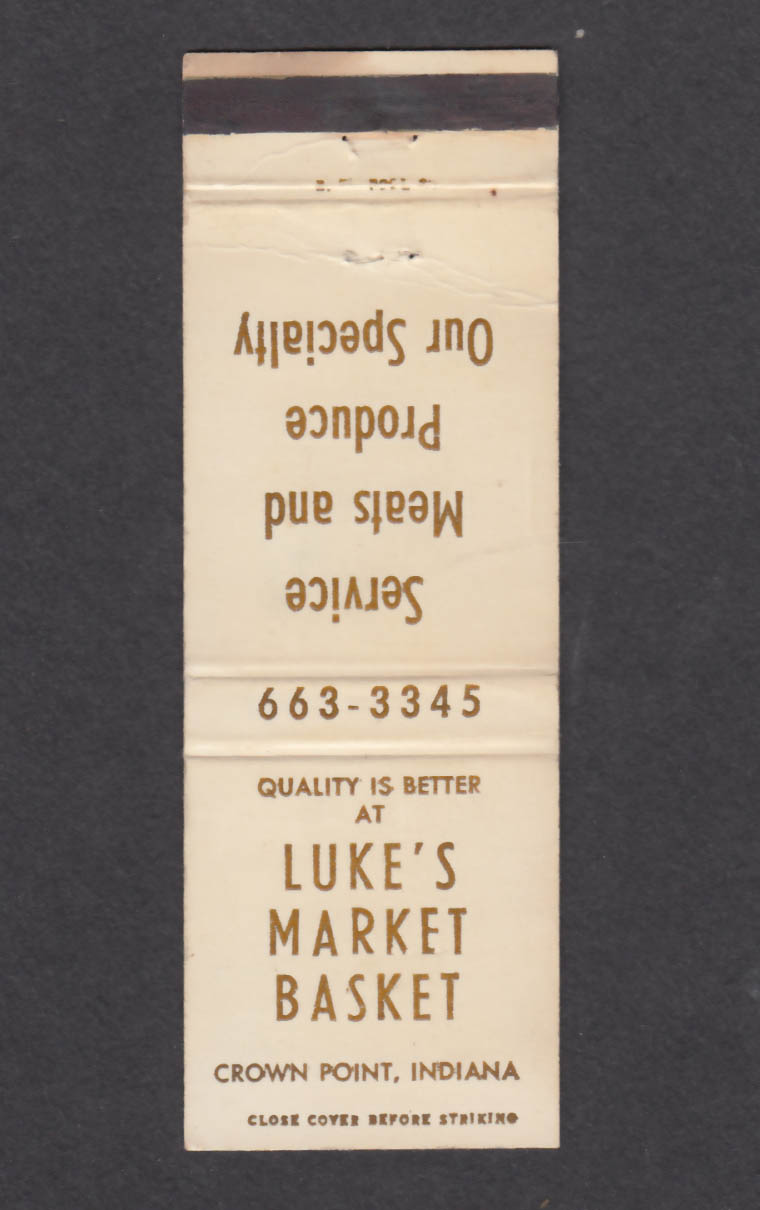Image for Luke's Market Basket Crown Point IN matchcover