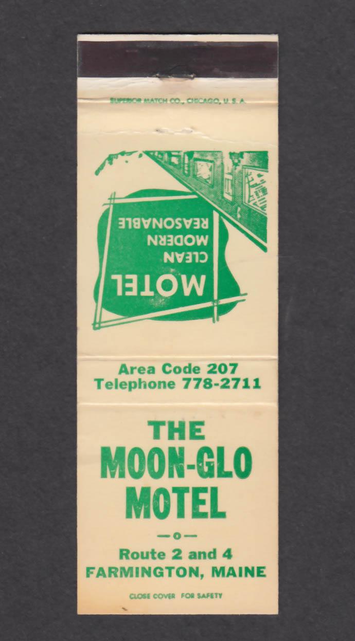 Image for The Moon-Glo Motel Farmington ME matchcover