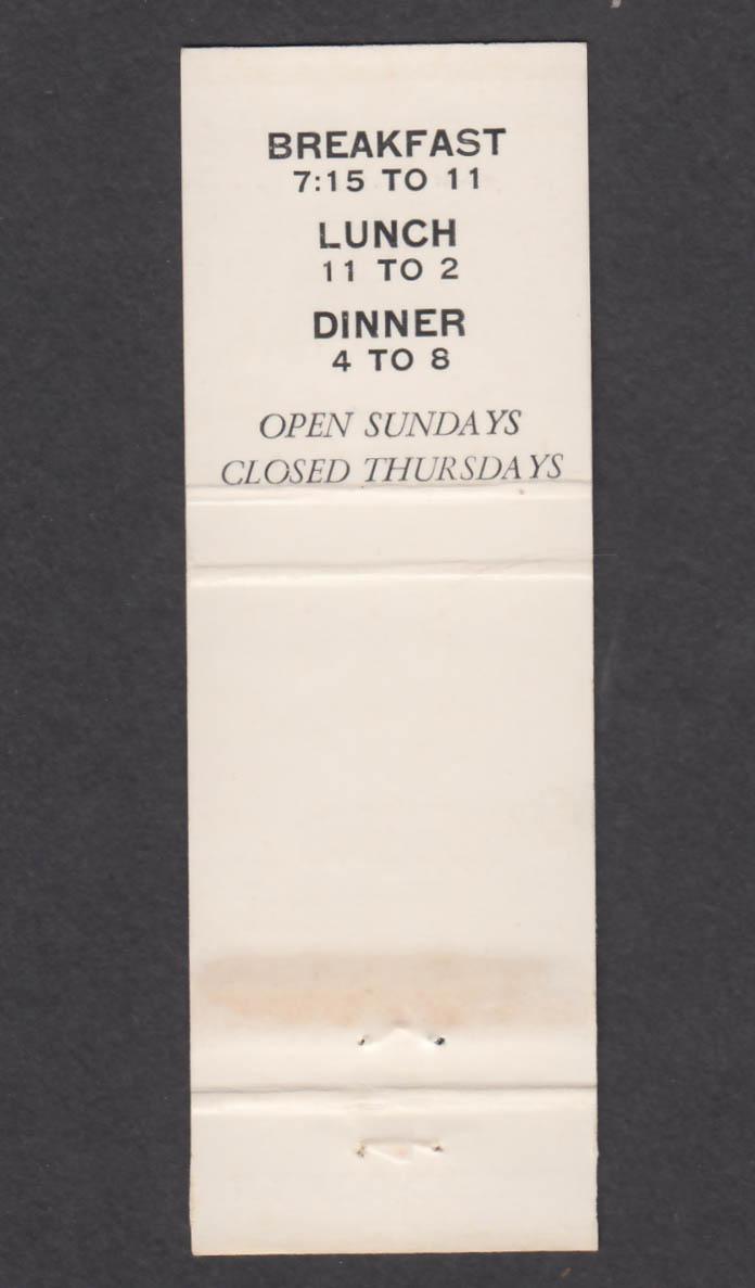 Image for Sagle's Restaurant Hancock MD matchcover