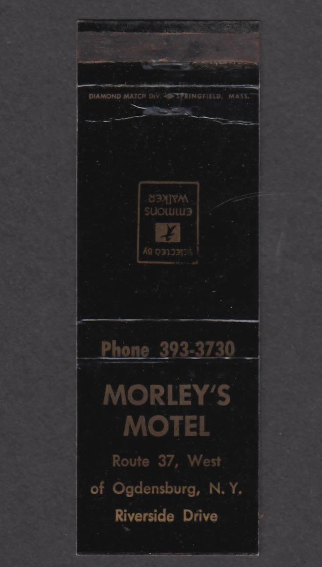 Image for Morley's Motel Route 37 Ogdensburg NY matchcover