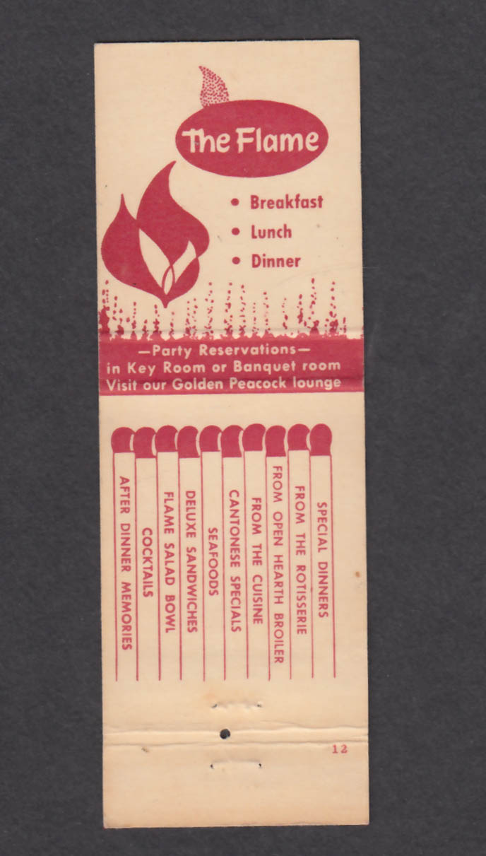 Image for The Flame Restaurant & Lounge Kirkwood MO matchcover