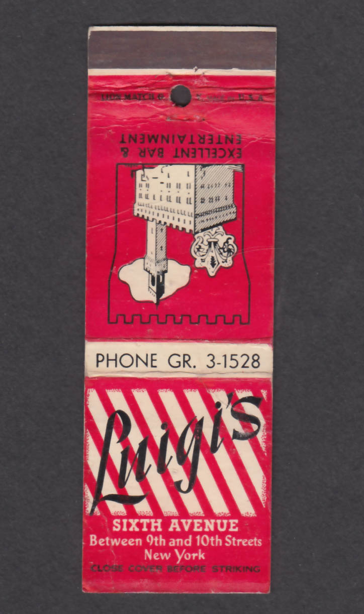 Image for Luigi's Sixth Ave New York NY matchcover