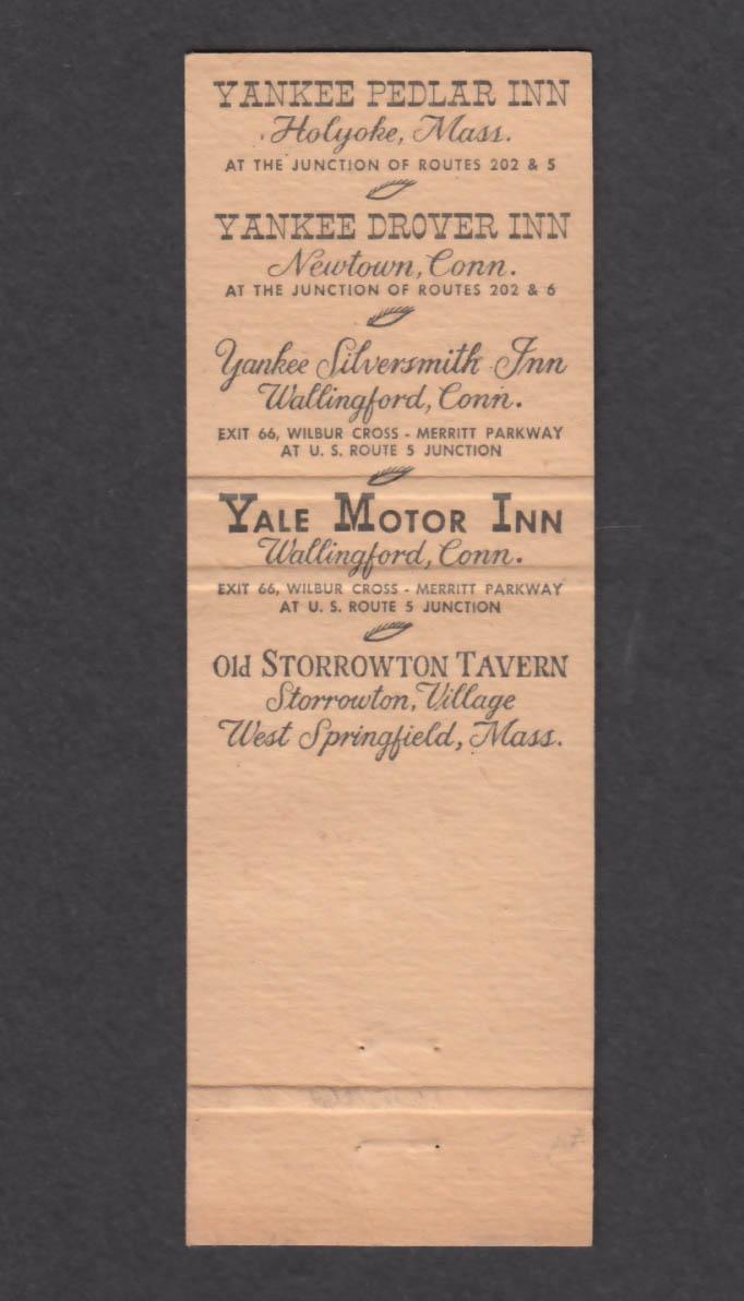 Image for Yankee Pedlar Inn Holyoke MA matchcover