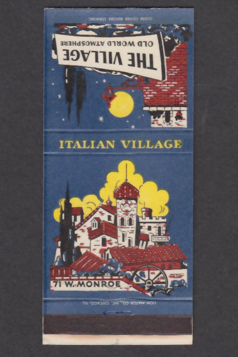 Image for The Village Old World Atmosphere Italian Village Dearborn MI matchcover