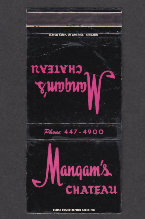 Image for Mangam's Chateau 7850 Ogden Ave Lyons IL matchcover
