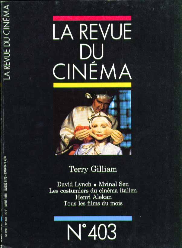 LA REVUE DU CINEMA #403 Terry Gilliam David Lynch 3 1985