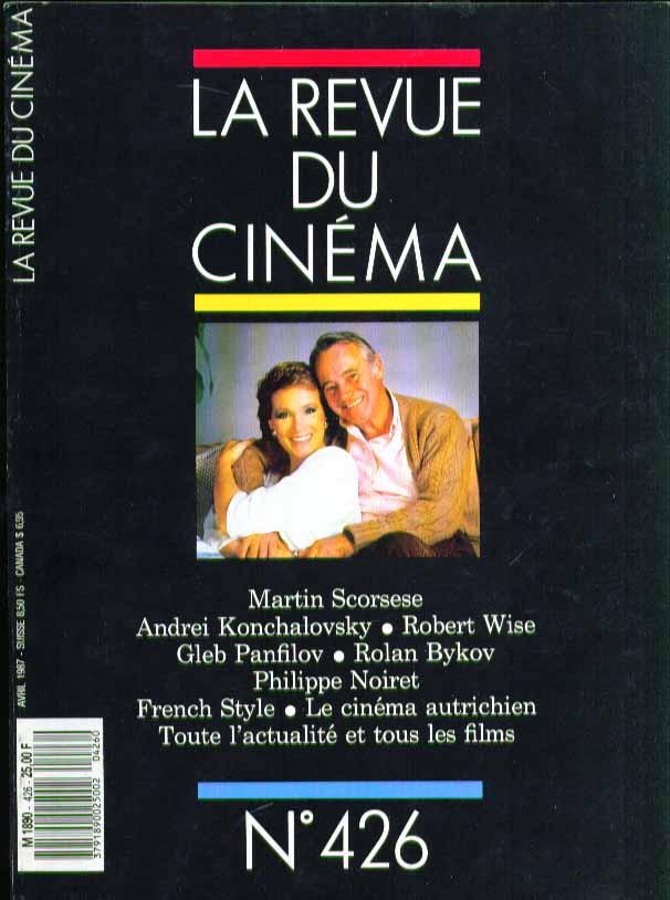 LA REVUE DU CINEMA #426 Martin Scorsese, Robert Wise 4 1987