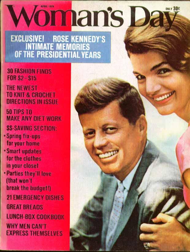 WOMAN'S DAY Rose Fitzgerald Kennedy Jackie & JFK 4 1974