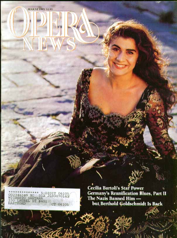 OPERA NEWS Cecilia Bartoli Berthold Goldschmidt 8 1993