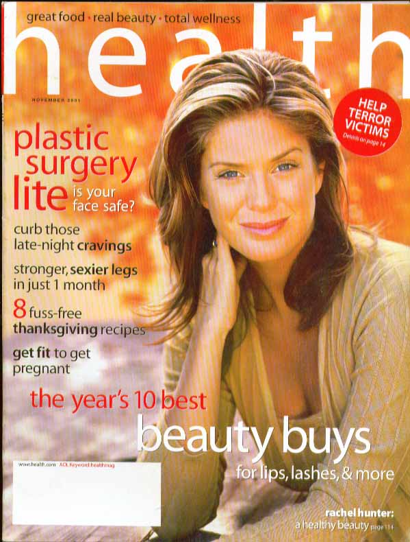 HEALTH Rachel Hunter, plastic surgery 11 2001