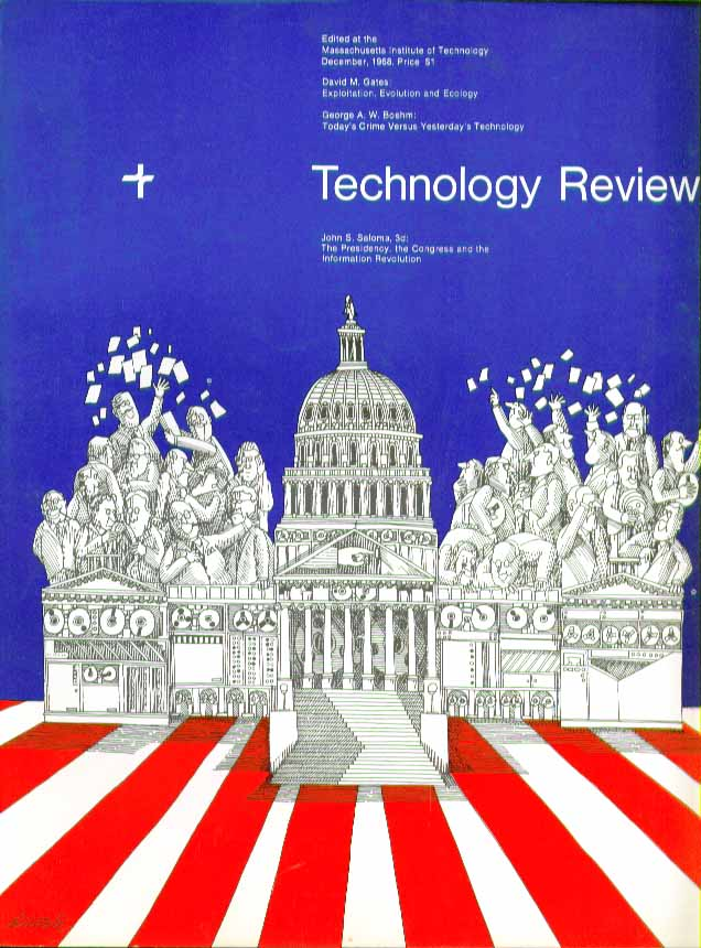 TECHNOLOGY REVIEW MIT Collagen ecology IT government ++ 12 1968