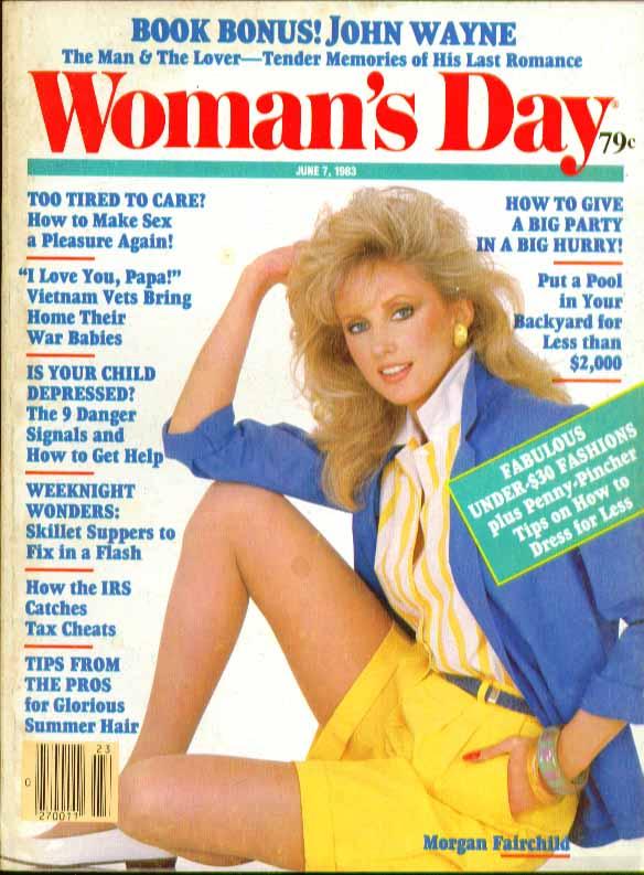 WOMAN'S DAY John Wayne Pat Stacy Morgan Fairchild 6/7 1983