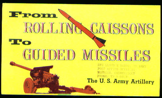 Army Artillery Guided Missiles recruitment folder 1953
